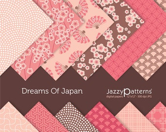 Dreams Of  Japan digital paper pack for scrapbooking DP003 instant download