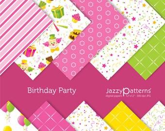 Birthday Party  digital scrapbooking paper pack DP002 instant download