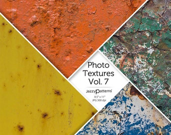 Rust and Paint Peel Photo Textures Vol.7  digital background, texture, printable photography backdrop