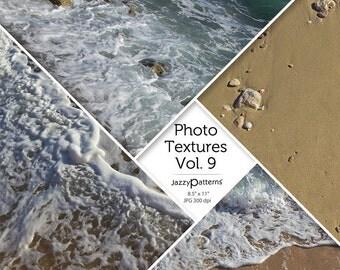 Beach Photo Textures Vol.9 digital background, texture, printable photography backdrop, digital scrapbooking