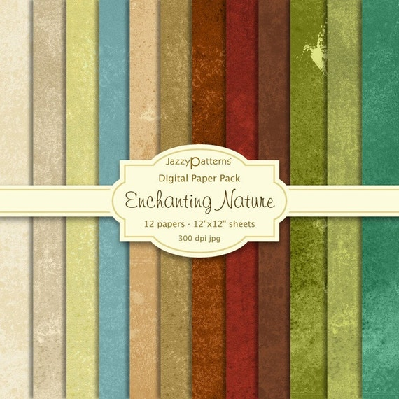 Digital Scrapbook Paper Pack - Enchanting Nature (DP035)