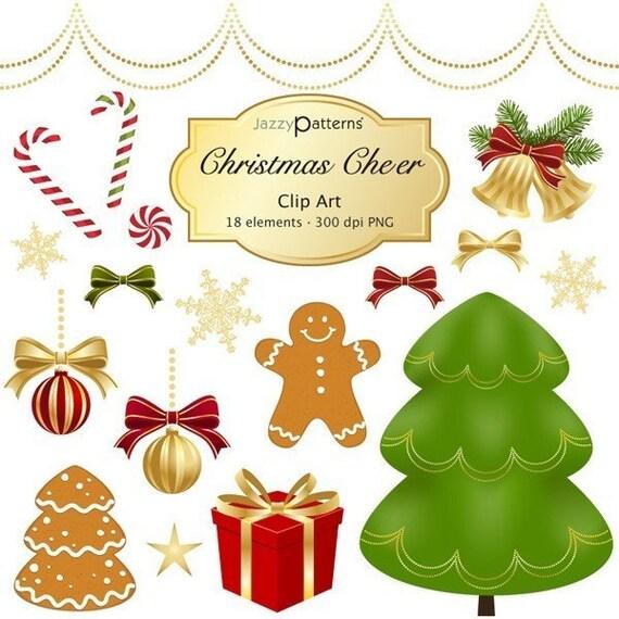 Christmas Cheer Clip Art Set CA006 instant download