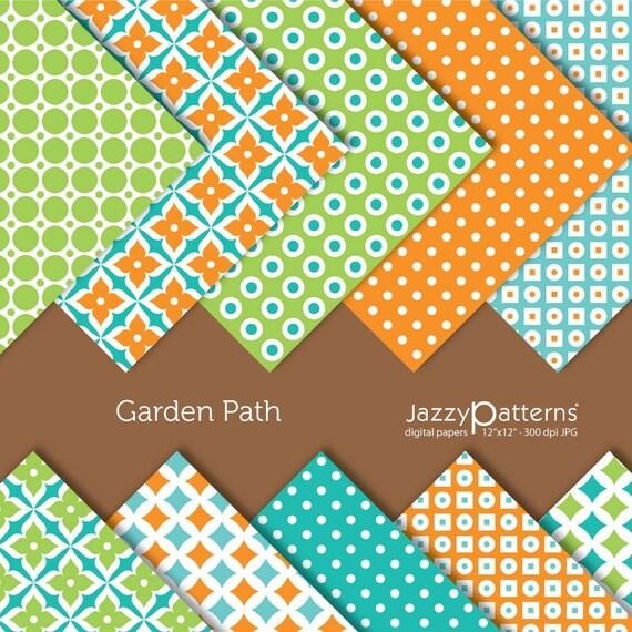 Garden Path digital paper pack DP053 instant download