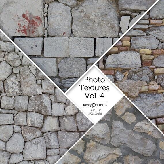 Stone Walls Photo Textures Vol.4  digital scrapbooking background, texture, photography