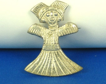 Vintage Tipicol D.P.E. Pot Metal Doll Pin