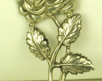 Vintage Lang Sterling Silver Flower Pin