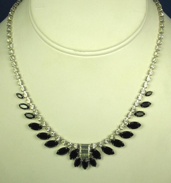 items similar to b david black glass and white rhinestone