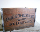 Industrial Wooden Crate - Vintage Anheuser Busch Beer Box