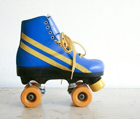 Vintage 1970s Roller Skates - Women's Size 8