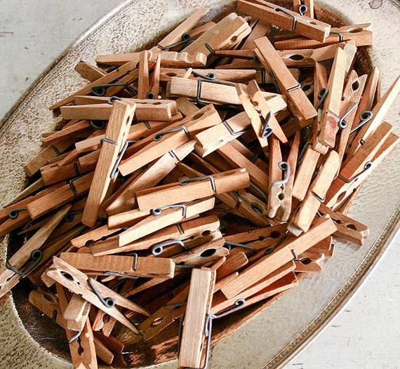 Reserved for 5354Linda - 75 Vintage Wooden Clothespins