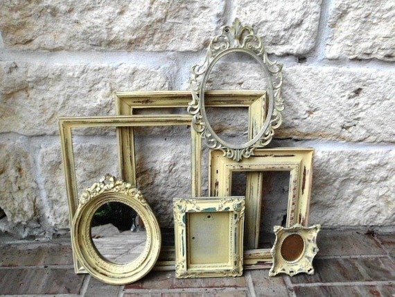Butter Cream Dreams - Upcycled - Vintage Picture Frame Collection
