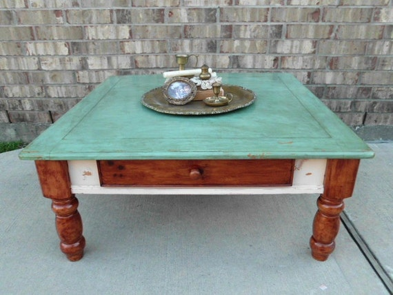 The NAKED Truth - Upcycled - Wooden Coffee Table - Drawer - Shades of Nature - CHIC