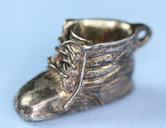 Vintage Baby Shoe Bootie Charm Sterling Engraved Diane
