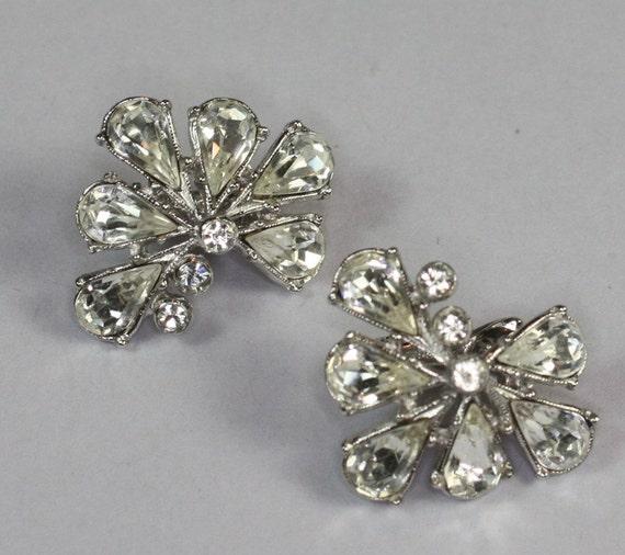 Vintage Crystal Earrings Designer Signed ORA Special Occasion