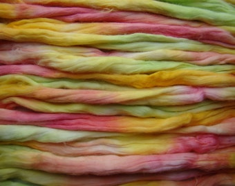 Cotton roving for spinning - Citrus, 1 oz