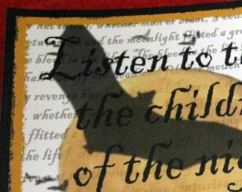 Children of the Night Original Digital Horror Art Print 8x10 Dracula