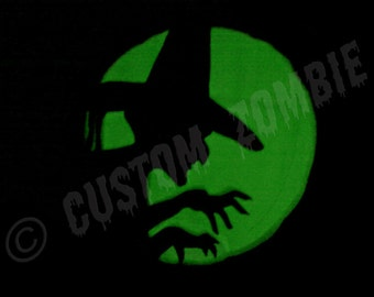 Pumpkin Stencil - Wicked Witch - Carving, Crafts - Downloadable