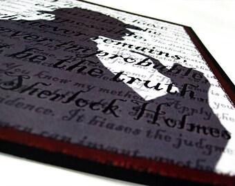 8x10 Sherlock Holmes Art - However Improbable Original Digital Art Print