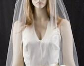 wedding veil - 36 inch fingertip length veil with a cut edge