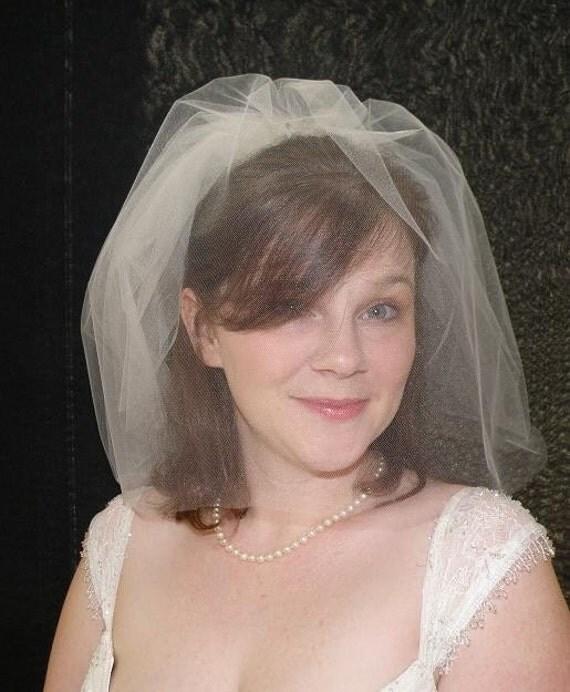 Wedding veil - Tiny Double Blusher Veil