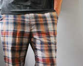 Striking and Classic Vintage Plaid Golf Pants