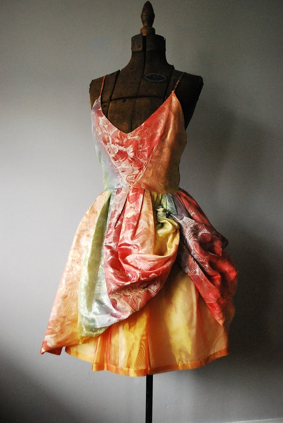Rainbow Sorbet Vintage Party Dress