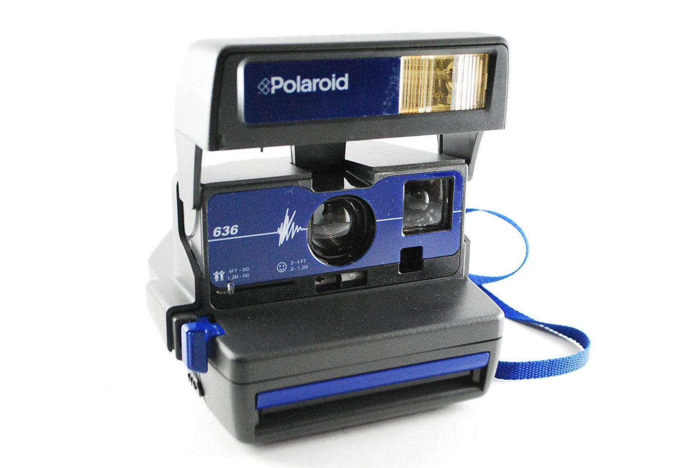 rare vintage polaroid 636 instant camera. Black Bedroom Furniture Sets. Home Design Ideas