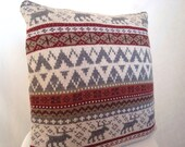 Gorgeous Reindeer Moose Knit Sweater Pillow