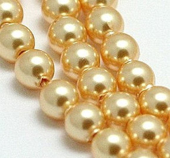 SWAROVSKI Pearl beads 5810 GOLD 6mm