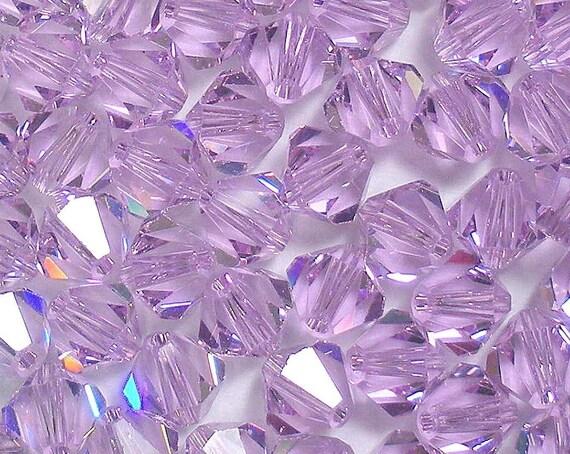 Swarovski Crystals 5301 5328 VIOLET 8mm