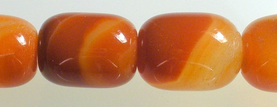 2 RED SARDONYX Smooth DRUMS approx 13x18mm
