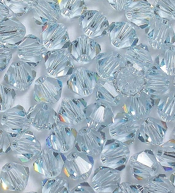 Swarovski Crystals 5301 5328 LIGHT AZORE 4mm