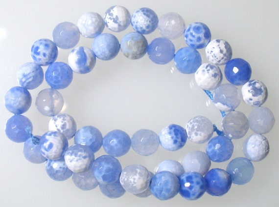 Blue Fire Agate Faceted Rounds approx 10mm