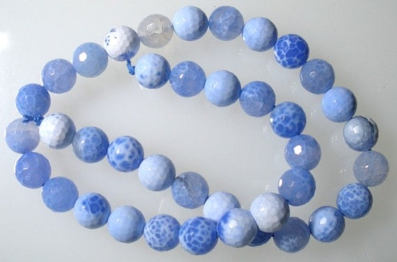 Blue Fire Agate Faceted Rounds approx 8mm