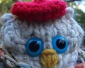 Marcel Knitted Hoot Owl