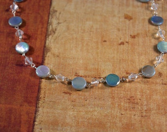 "Necklace and Earring Set ""Glimmer In The Snow"""