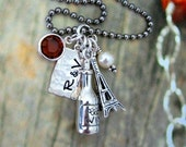 Paris Fling Wine Personalized Charm Necklace Vacation Destination Gift