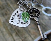 Key to my Heart Personalized Mothers Necklace