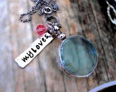 Photo Picture Locket Glass Personalized Necklace Sterling Tag Charm Gift New Moms Mother Sweetheart Mom Sister Daughter