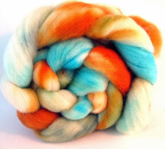 BFL (Blue-Faced Leicester) Wool Combed Top/Roving - Beaker and Bunsen - approx. 4 oz