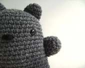 Amigurumi Crochet Plush Charcoal Gray Teddy Bear Kawaii Plush Teddy Bear Gift Under 25 Stuffed Animal Teddy Bear Teddy Bear Plushie