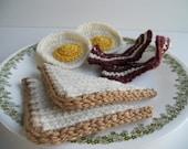 Crochet Sunday Morning Breakfast Play Food Toy Play Breakfast Food Plushie Breakfast Gift Under 20 Play Kitchen Amigurumi Breakfast