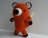 Amigurumi Crochet Fox Plush Toy