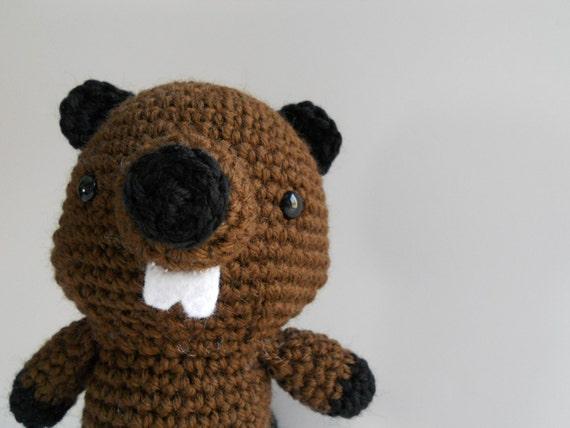 Amigurumi Crochet Beaver Plush Toy Kawaii Plush Beaver Woodland Nursery Decor Gift Under 50 Plushie Beaver Stuffed Animal Beaver