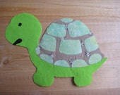 TURTLE FABRIC APPLIQUE