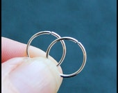2 Sterling Silver Catchless / Seamless Nose Rings - CUSTOMIZE