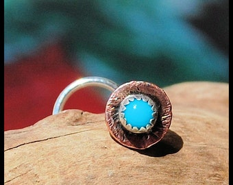 Southwest Style - Turquoise Nose Stud with Copper - CUSTOMIZE
