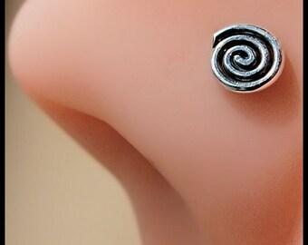 Large Spiral Nose Stud - CUSTOMIZE
