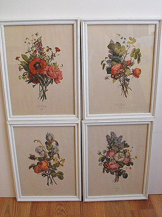 french country botanical prints by granddar on etsy