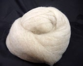 Corriedale X Romney Natural Light Oatmeal Colored  Roving 4oz